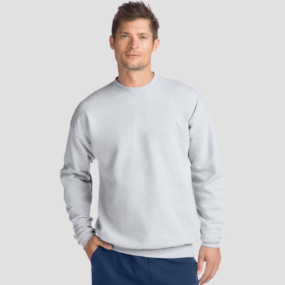 Hanes Men's EcoSmart Fleece Crew Neck Sweatshirt - Ash (Grey) L
