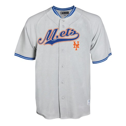 new style 03f11 60ba3 MLB New York Mets Men's Gray Retro Team Jersey