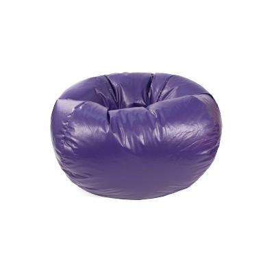 Small Vinyl Bean Bag Chair Purple - Gold Medal