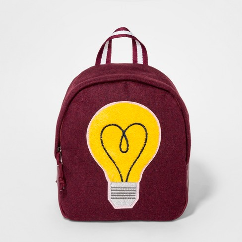 Girls' Patch Mini Backpack - art class™ Maroon - image 1 of 2