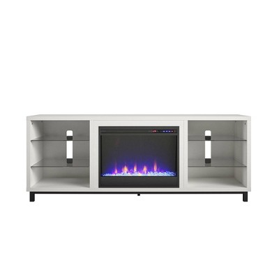 """Up To 65"""" Westchester Fireplace Tv Stand For Tvs White - Cosmoliving By Cosmopolitan"""