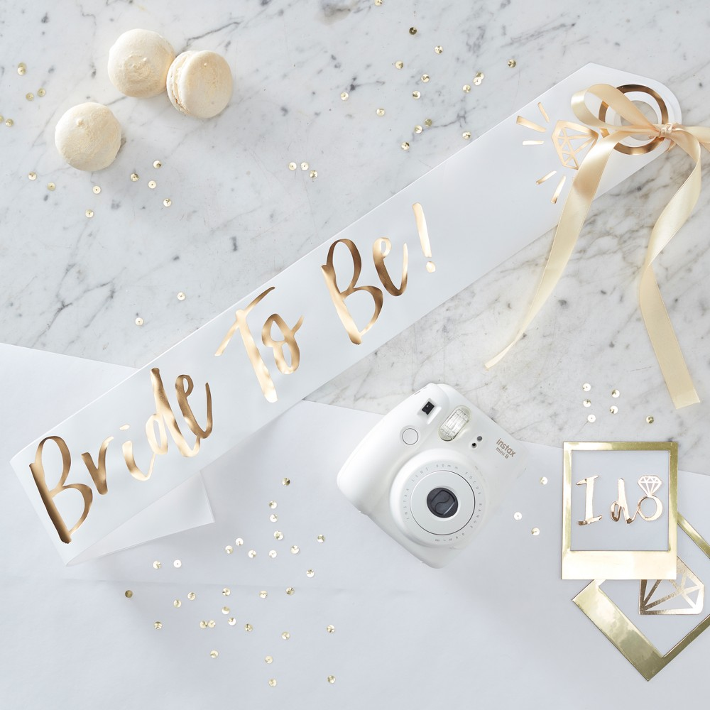 """Image of """"""""""""Bride To Be"""""""" Foiled Sash Gold"""""""