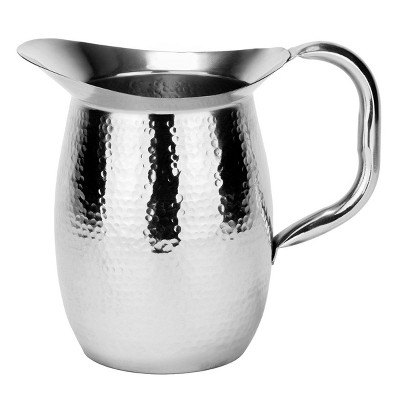 Old Dutch 64oz Stainless Steel Double-Wall Hammered Beverage Pitcher