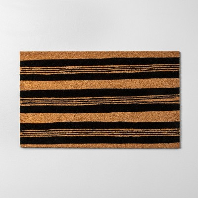 18 x30  Door Mat Black Stripe - Hearth & Hand™ with Magnolia