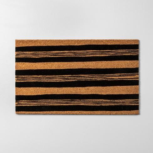 "18""x30"" Door Mat Black Stripe - Hearth & Hand™ with Magnolia - image 1 of 4"