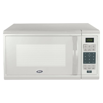 Oster 1.1 cu ft 1000W Microwave - White OGCMZJ11WE-10