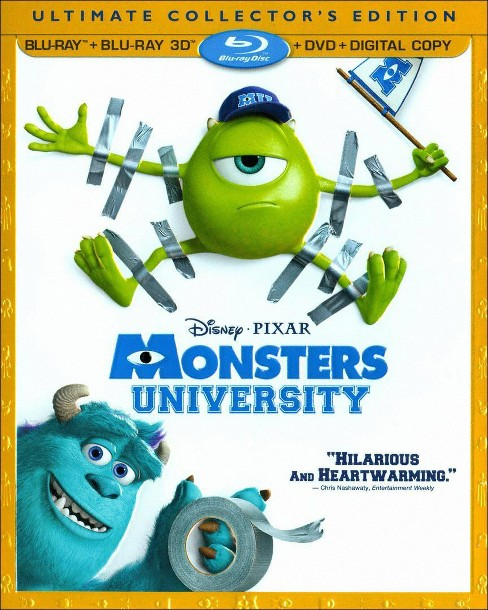 Monsters University (4 Discs) (Includes Digital Copy) (3D/2D) (Blu-ray/DVD) (W) (Widescreen) - image 1 of 1