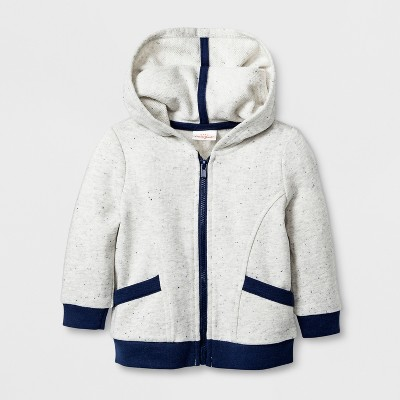 Baby Boys' French Terry Hooded Sweatshirt - Cat & Jack™ Gray 3-6M