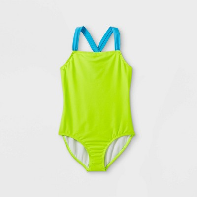 Girls' Solid One Piece Swimsuit - Cat & Jack™