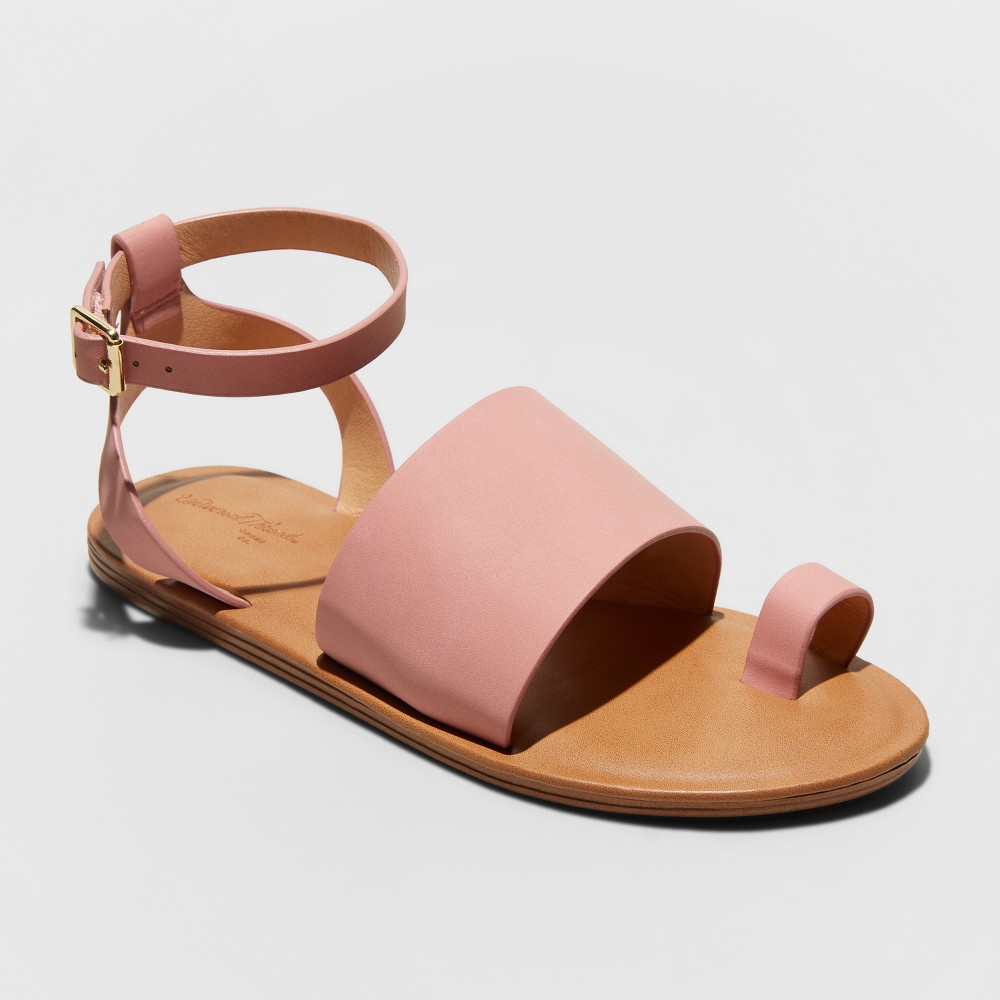 Women's Kenya Ankle Strap Sandals - Universal Thread Pink 12