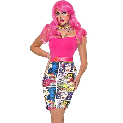Forum Novelties Pop Art Comic Book Pencil Skirt Adult Costume