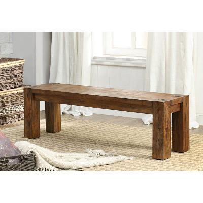 Delicieux ArsenioSturdy Wooden Dining Bench Dark Oak   Sun U0026 Pine
