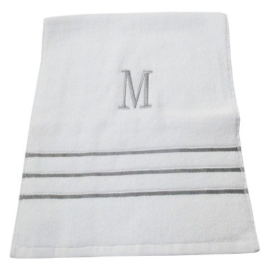 Monogram Hand Towel M - White/Skyline Gray - Fieldcrest®