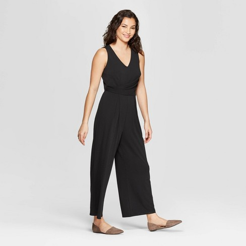 831642c0644 Women s Sleeveless V-Neck Jumpsuit - A New Day™ Black   Target