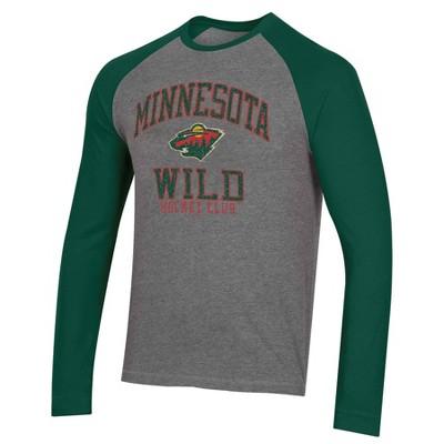 NHL Minnesota Wild Men's Long Sleeve Raglan T-Shirt