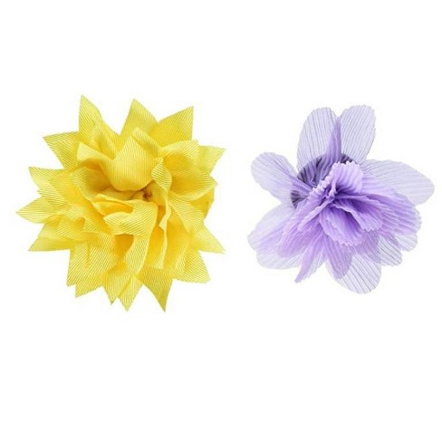 Bow & Arrow Slide Bow Ties Dog Collar - Lavender and Yellow - image 1 of 1