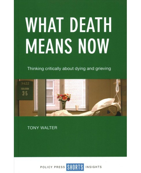 What Death Means Now : Thinking Critically About Dying and Grieving -  by Tony Walter (Paperback) - image 1 of 1