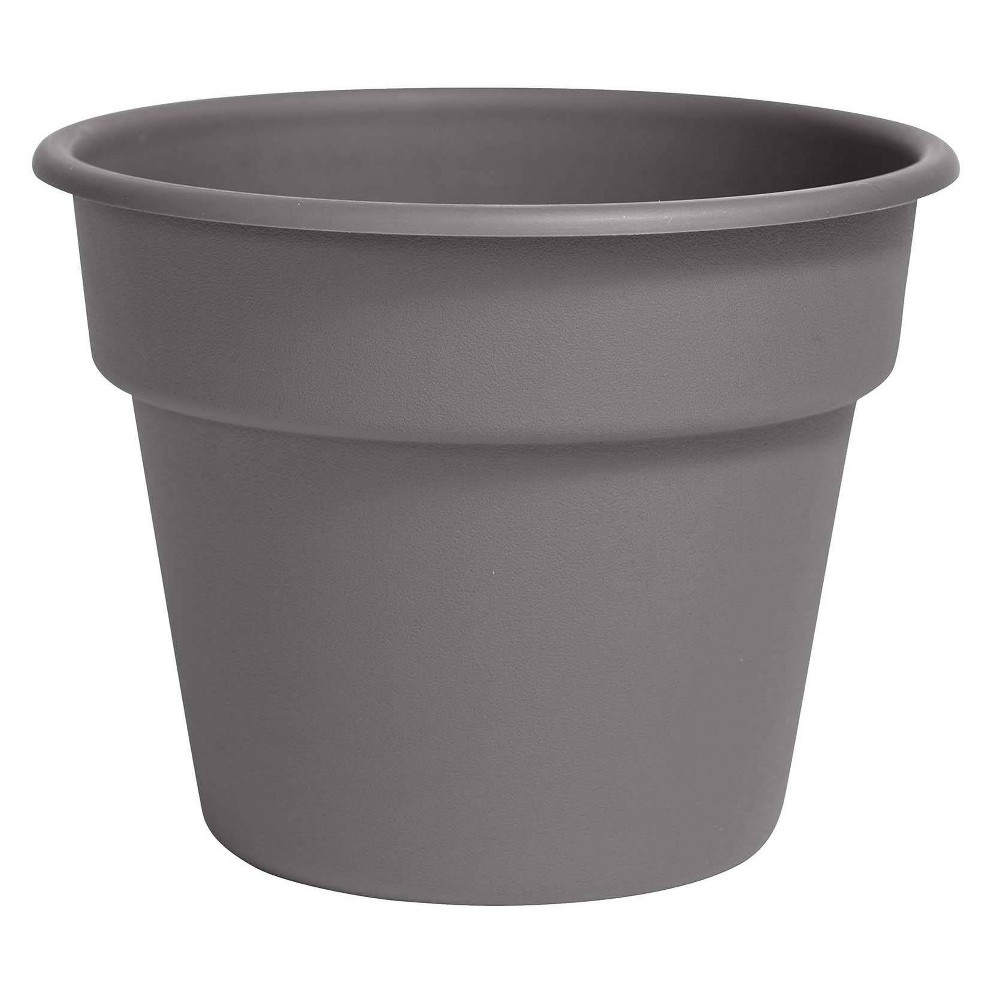 "Image of ""10"""" Dura Cotta Planter Charcoal - Bloem"""