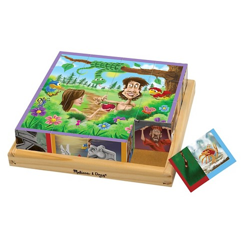 Melissa & Doug Old Testament Bible Stories Wooden Cube Puzzle - 6 Puzzles in 1 (16pc) - image 1 of 4