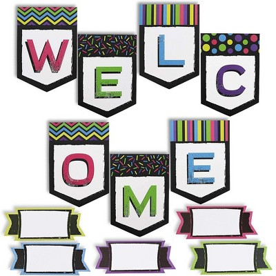 Juvale Welcome Classroom Banner with 48 Name Tags