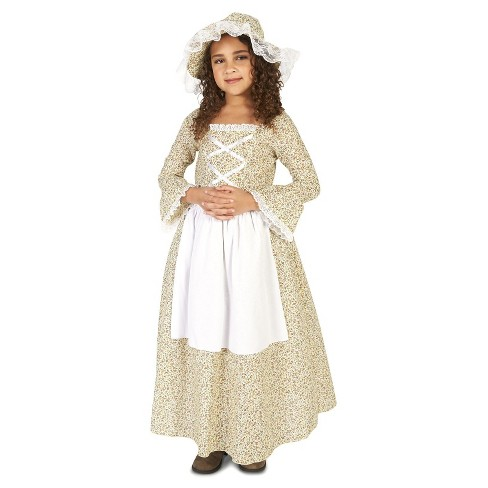 Colonial Times Girls Costume Target