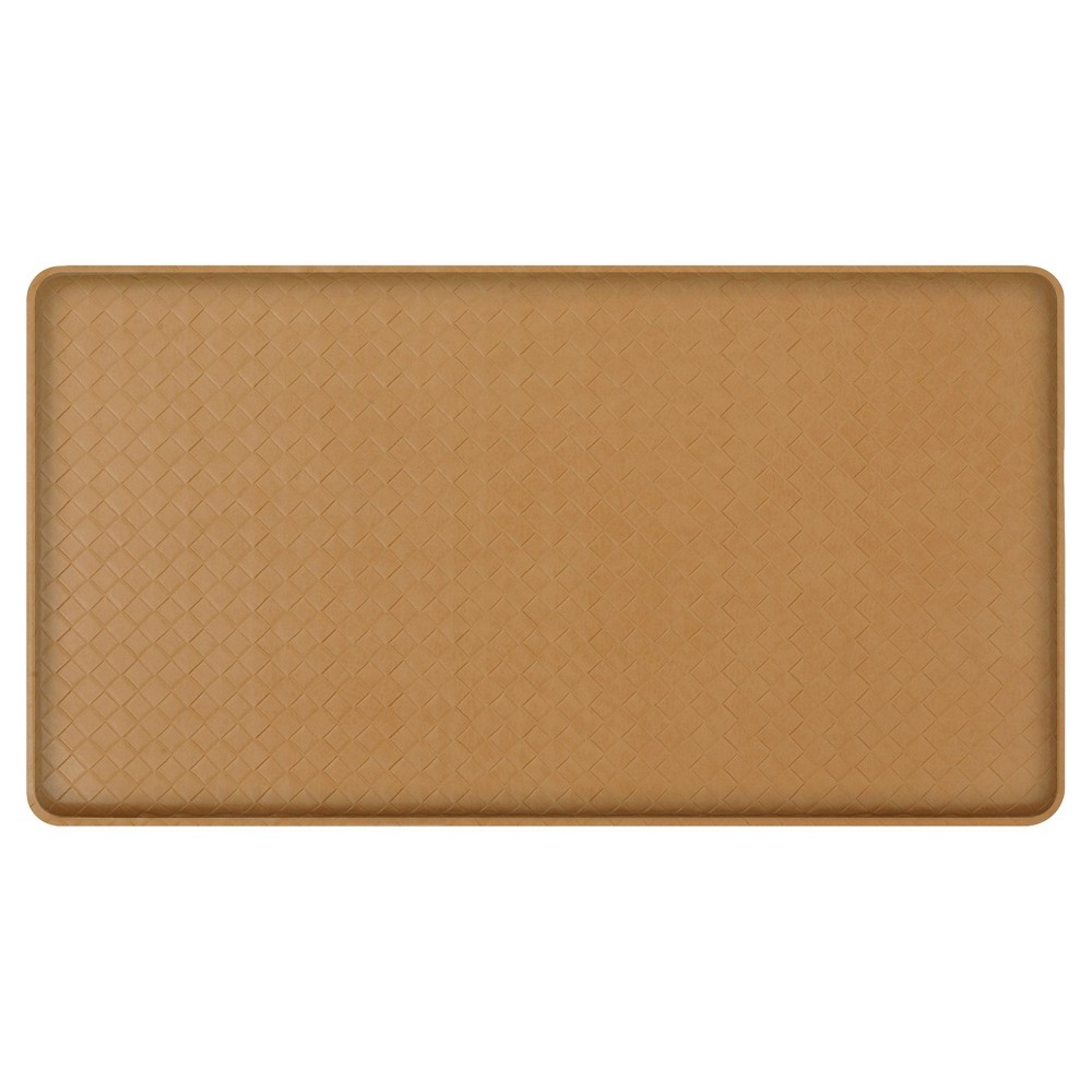 "Image of ""Gelpro Classic Basketweave Comfort Kitchen Mat - Khaki (Green) (20""""X36"""")"""