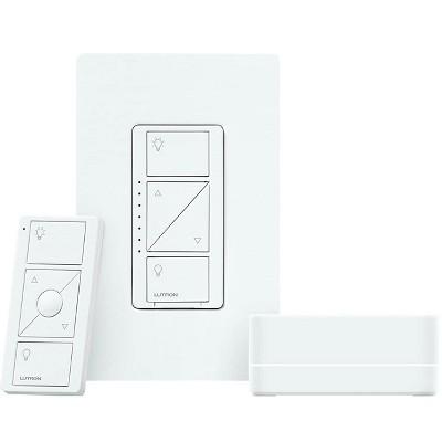 Lutron Caseta Wireless Smart Lighting Dimmer Switch Starter Kit, Works with Alexa, Apple HomeKit, and the Google Assistant | P-BDG-PKG1W