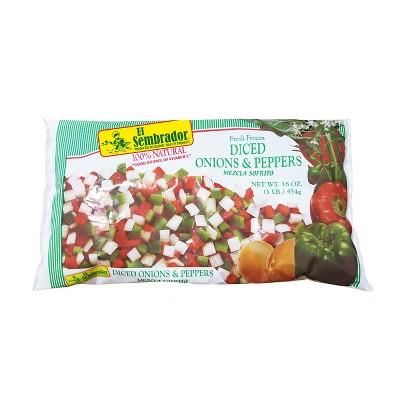 El Sembrador Fresh Frozen Diced Onions & Peppers - 16oz