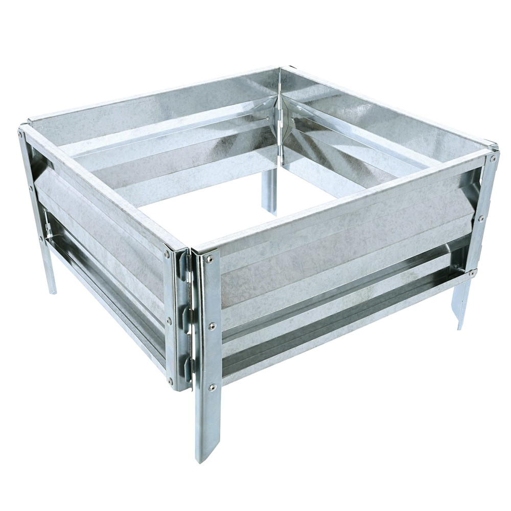 Image of Square Planter Stands And Holders Pure Grdn Silver