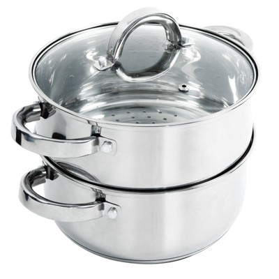 Oster Hali 3-Piece Stainless Steel Steamer Set With Lid