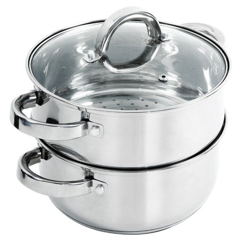 Oster Hali 3-Piece Stainless Steel Steamer Set With Lid - image 1 of 4