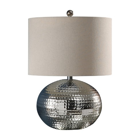 Abbyson Living Arlo Hamme Finish Table Lamp Silver - image 1 of 4