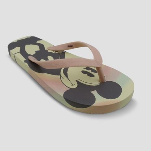 Girls' Disney Mickey Mouse Flip Flops - Pink - image 1 of 3