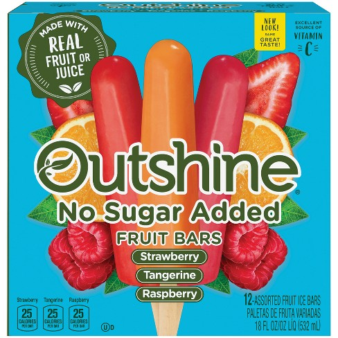 Outshine Strawberry, Raspberry, Tangerine Frozen Fruit Bar - 12ct - image 1 of 6