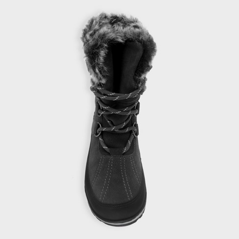 ff6967fa4c99 Women s Ellysia Wide Width Short Functional Winter Boots - C9 Champion®  Gray 5W   Target