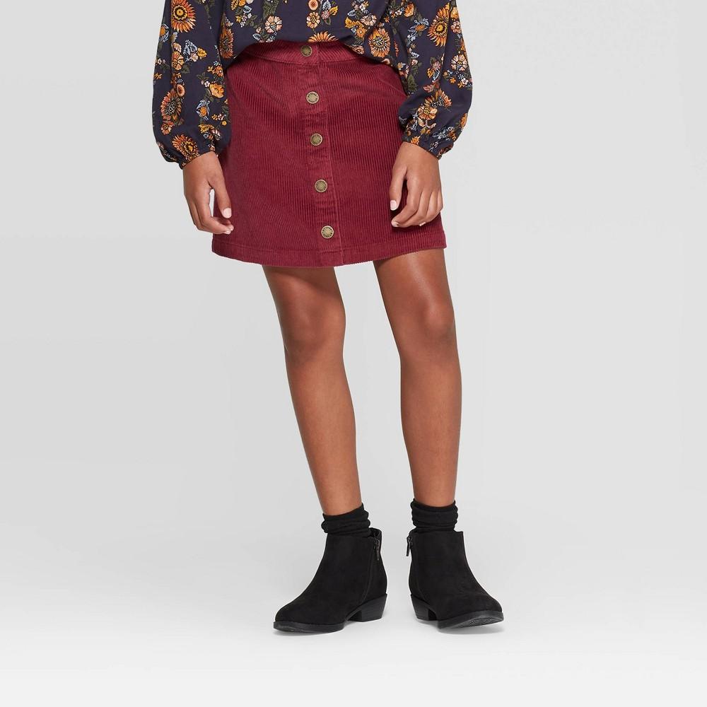 Image of Girls' Corduroy Mini Skirt - art class Red XL, Girl's