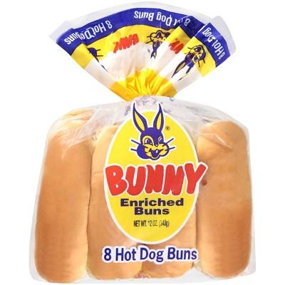 Bunny Hot Dog Buns - 12oz/8ct