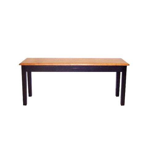 Incredible Shaker Dining Bench Wood Black Oak Boraam Theyellowbook Wood Chair Design Ideas Theyellowbookinfo