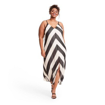 Chevron Sleeveless Slip Dress - Christopher John Rogers for Target Black/White