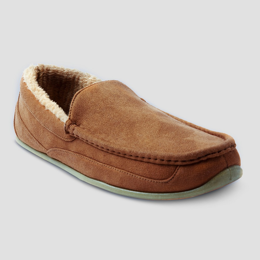 Men's Deer Stags Spun Loafer Wide Width Slippers - Chestnut 12W, Size: 12 Wide, Brown