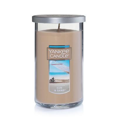 Yankee Candle Glass Pillar Candle Sun & Sand 12oz