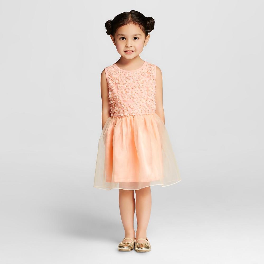Miss Treasures Toddler Girls' Khloe Rosette Dress Pink - 4T