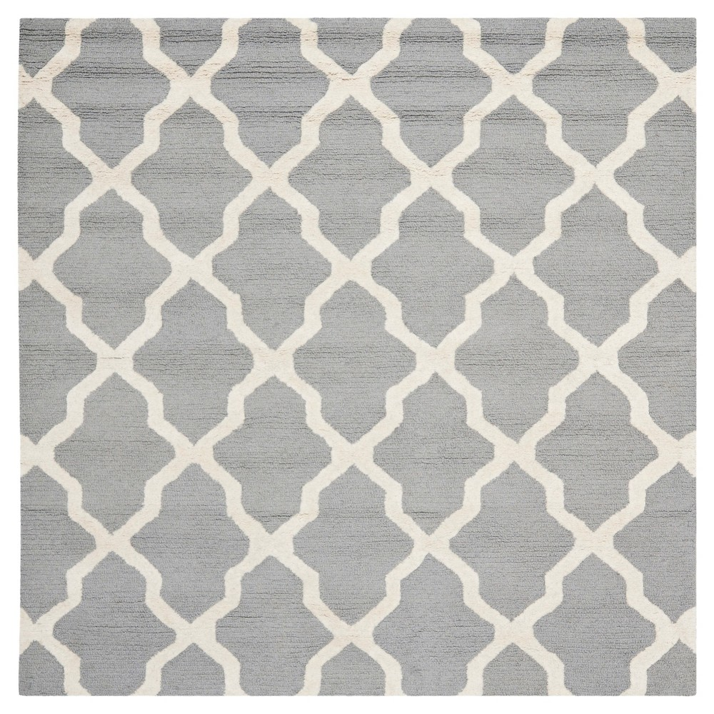 Maison Textured Rug - Silver / Ivory (10' Square) - Safavieh, Silver/Ivory