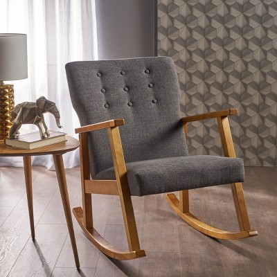 Harvey Mid Century Modern Rocking Chair - Christopher Knight Home : Target