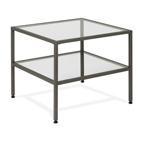 "Home Camber Modern Glass End Table 25"" - Grey - Studio Designs - image 1 of 5"