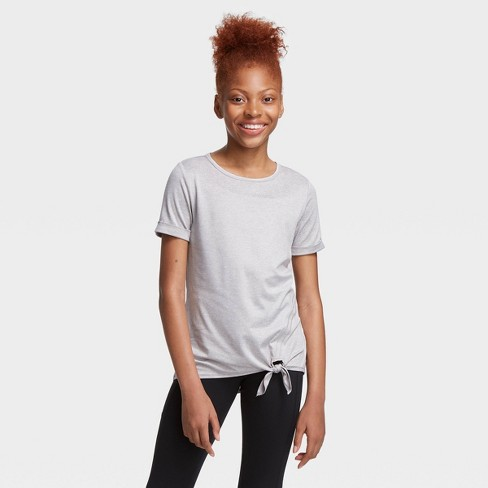 Girls' Short Sleeve Side-Tie Studio T-Shirt - All in Motion™ - image 1 of 4