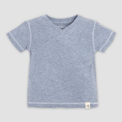 Burt's Bees Baby® Baby Boys' Organic Cotton Short Sleeve Reverse Seam V-Neck T-Shirt - Blue 0-3M