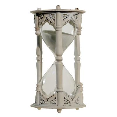 Decorative Hourglass White (6 x3 )- VIP Home & Garden