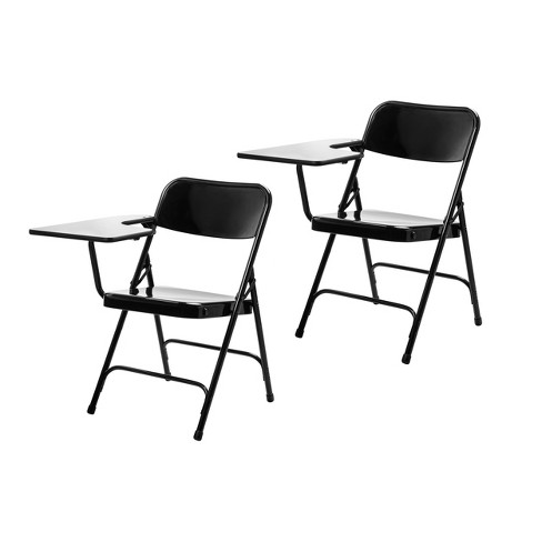 Brilliant 2Pk Tablet Right Arm Folding Chair Black Hampton Collection Alphanode Cool Chair Designs And Ideas Alphanodeonline