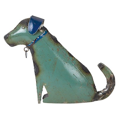 2.5  Metal Recycled Dog - Multi Color - Foreside Home & Garden